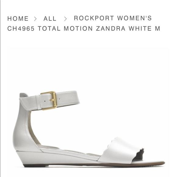 Rockport Total Motion Zandra white sandals size 5
